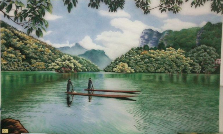 gemstone-painting-river
