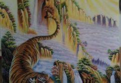 Gemstone painting - tiger 1