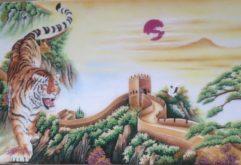 Gemstone painting - tiger 2