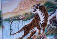 Gemstone painting - tiger