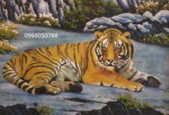 Gemstone painting - tiger 4
