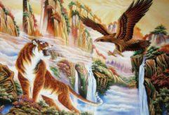 Gemstone painting - tiger eagle