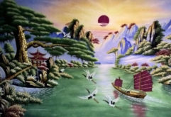 Gemstone painting - Vietnamese water-colour 12
