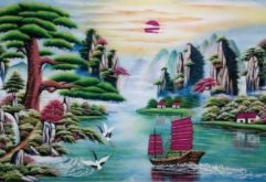 Gemstone painting - Vietnamese water-colour 13