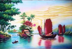 Gemstone painting - Vietnamese water-colour 15