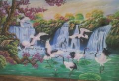 Gemstone painting - Vietnamese water-colour 17