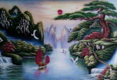 Gemstone painting - Vietnamese water-colour 19