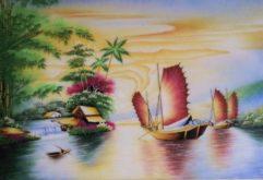Gemstone painting - Vietnamese water-colour 22