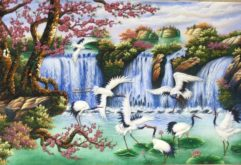 Gemstone painting - Vietnamese water-colour 23