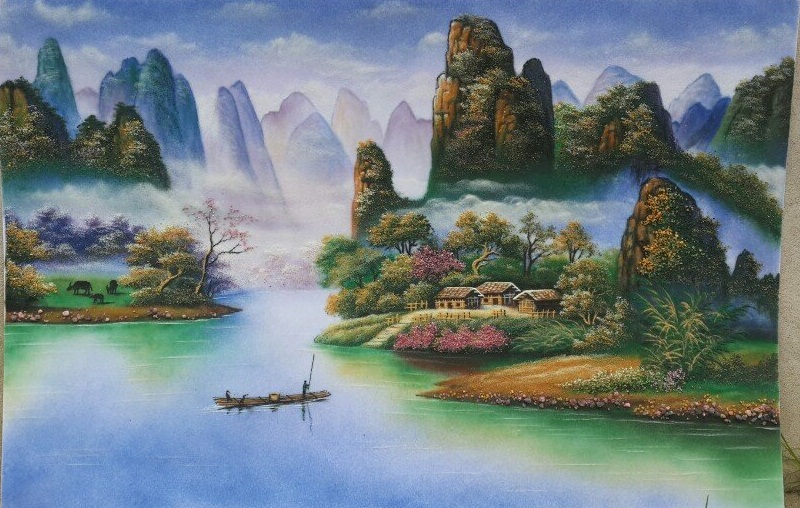 Gemstone painting - Vietnamese water-colour 6