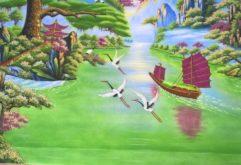 Gemstone painting - Vietnamese water-colour 5