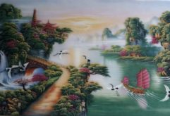 Gemstone painting - Vietnamese water-colour 7