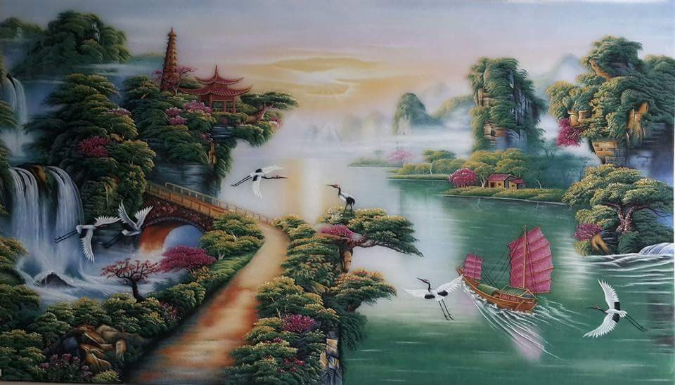 Gemstone painting - Vietnamese water-colour 7