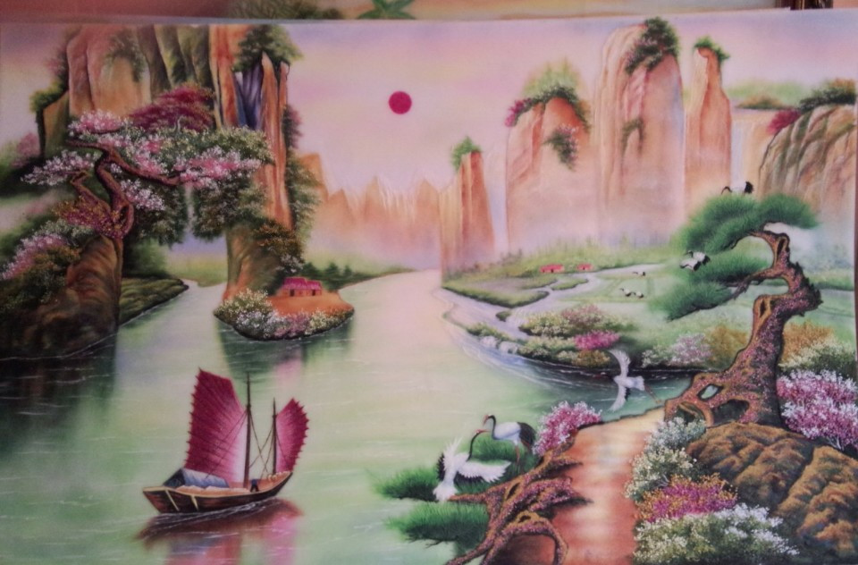 Gemstone painting - Vietnamese water-colour 9