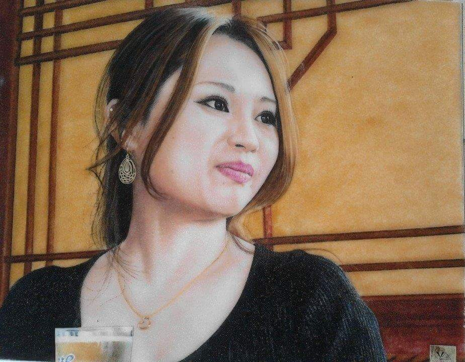 Gemstone painting - portraits 8