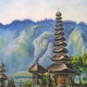 Gemstone painting Japan landscape