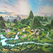 Gemstone painting landscape 1
