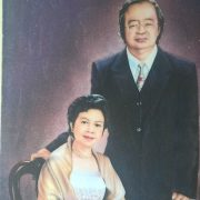 Gemstone painting portraits Father and Mother