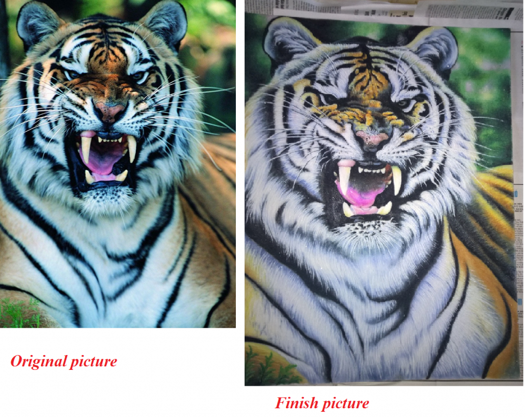 Gemstone painting tiger-6