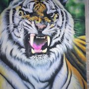 Gemstone painting tiger 6