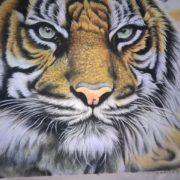 Gemstone painting tiger 8