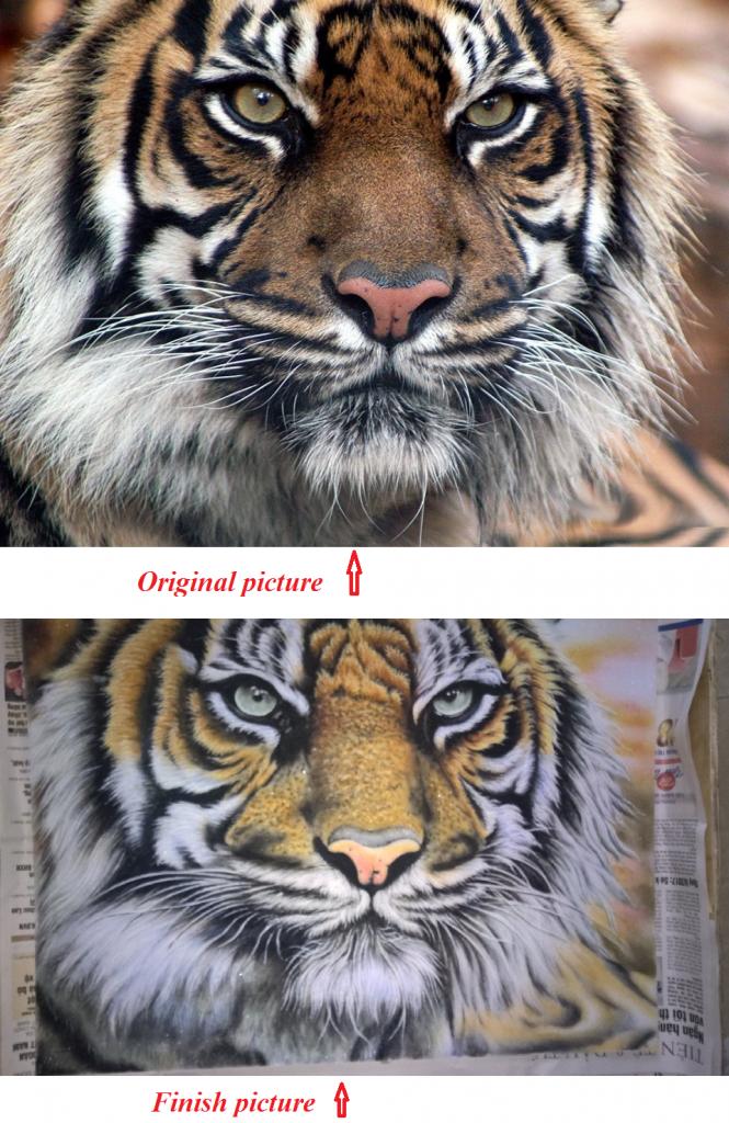 Gemstone painting tiger-8
