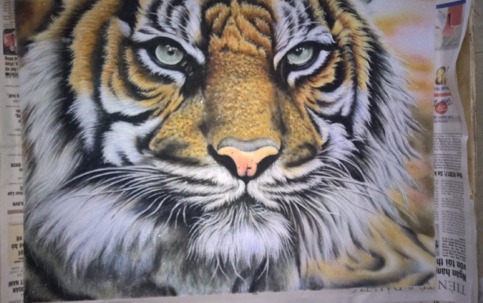 Gemstone painting tiger 8