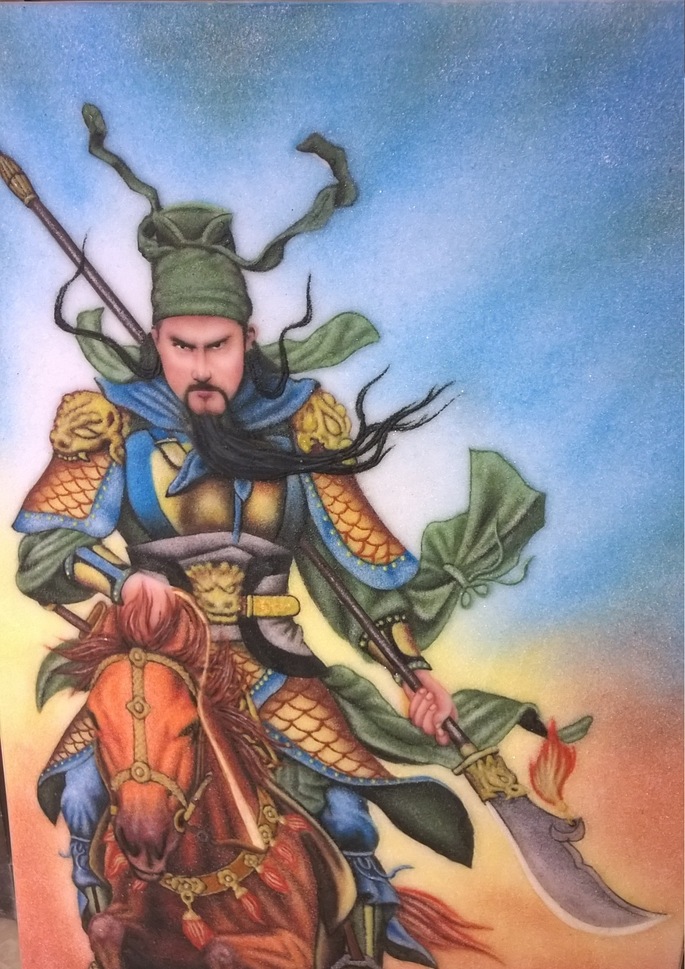 Gemstone painting Guan Yu Warrior 2