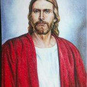 Gemstone painting-Jesus Christ