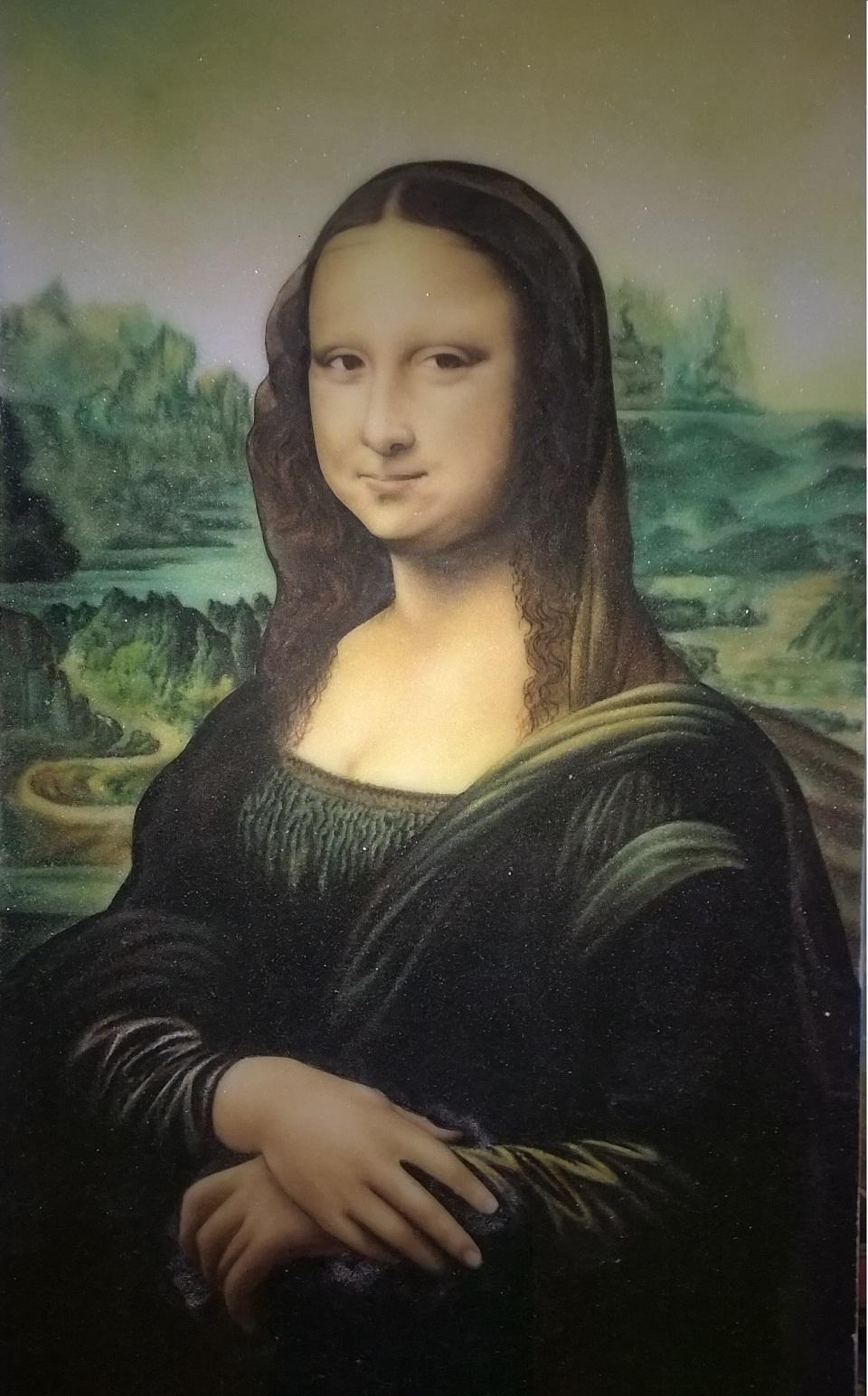 Gemstone painting Mona Lisa
