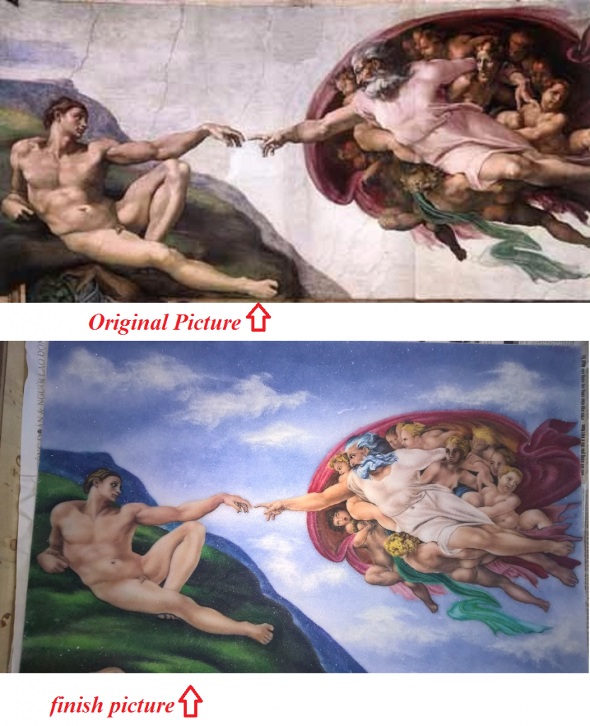 gemstone painting art