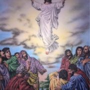 Gemstone painting ascension of Jesus