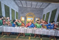 Gemstone painting the last Supper