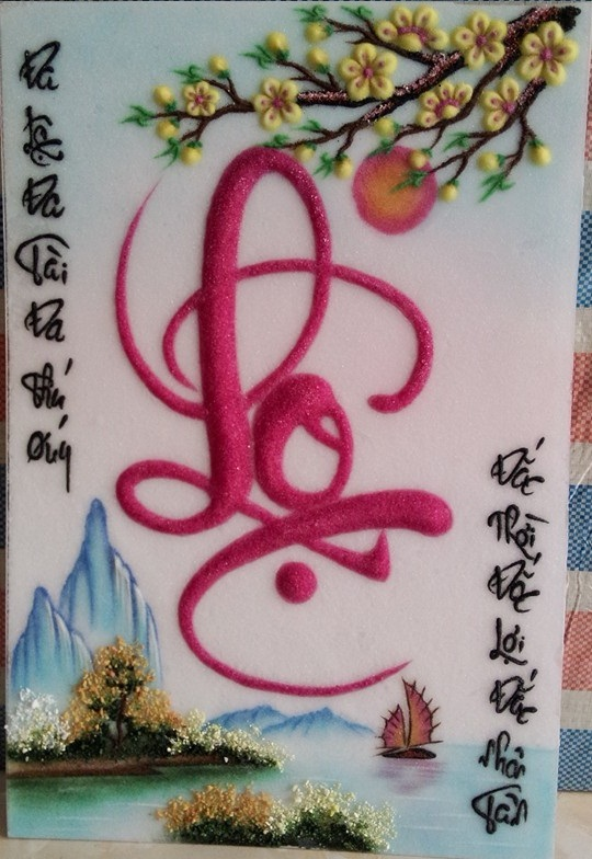 Gemstone painting - caligraphy 2