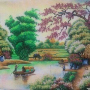 gemstone painting, gemstone art vietnam