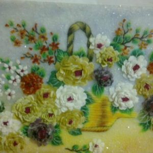 Gemstone painting - chrysanthemum
