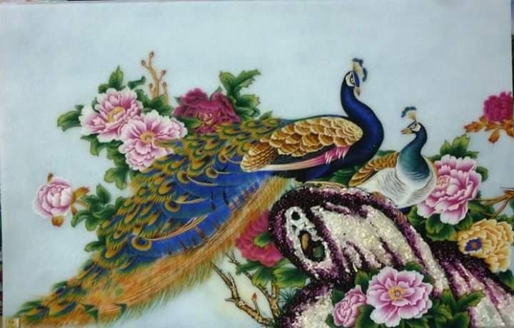 gemstone-painting-couple-peacock-2