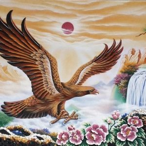 Gemstone painting - eagle