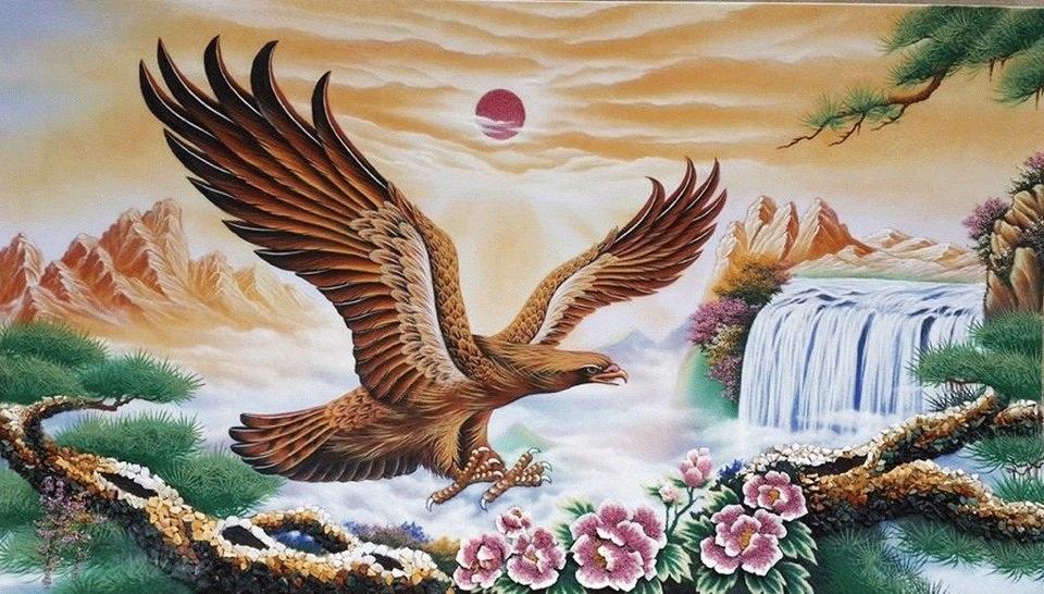 Gemstone painting - eagle