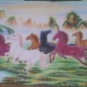 Gemstone painting - eight horse 17