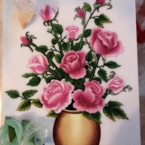 Gemstone painting - flower