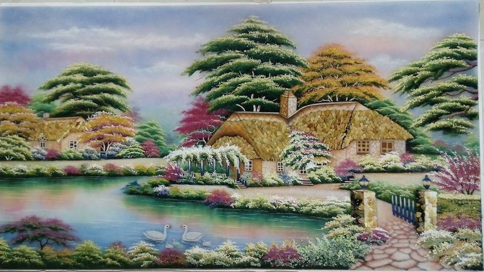 Gemstone painting - foreign landscape 1