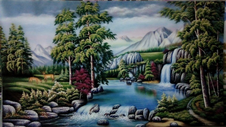 Gemstone painting - foreign landscape 14