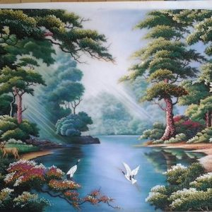 Gemstone painting - foreign landscape 15