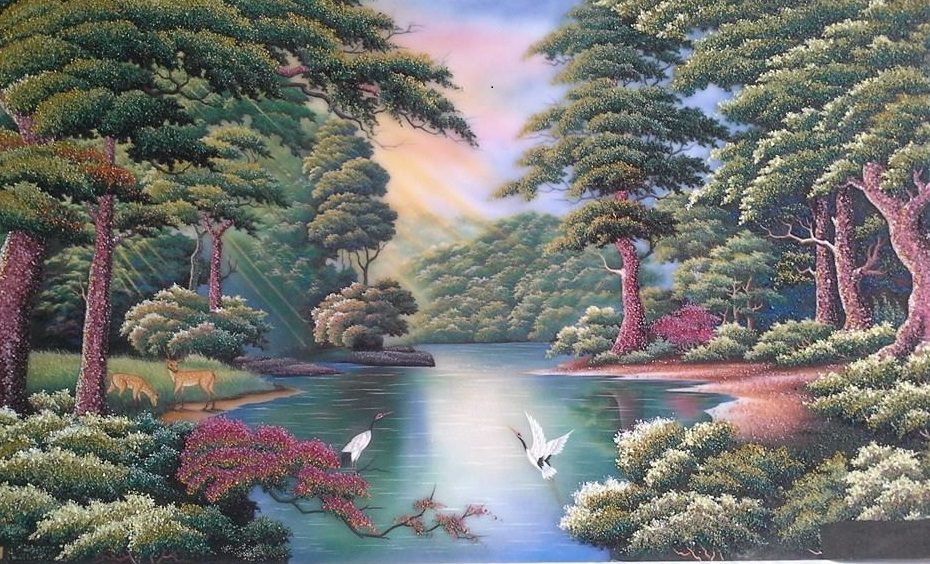 Gemstone painting - foreign landscape 2