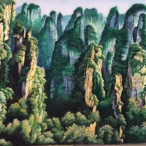 Gemstone painting - foreign landscape 21