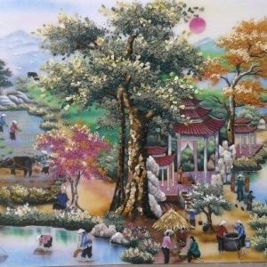gemstone-painting-gate-of-village