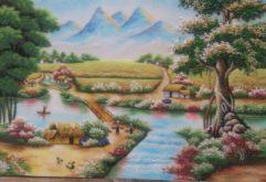 Gemstone painting - Vietnamese landscape 12