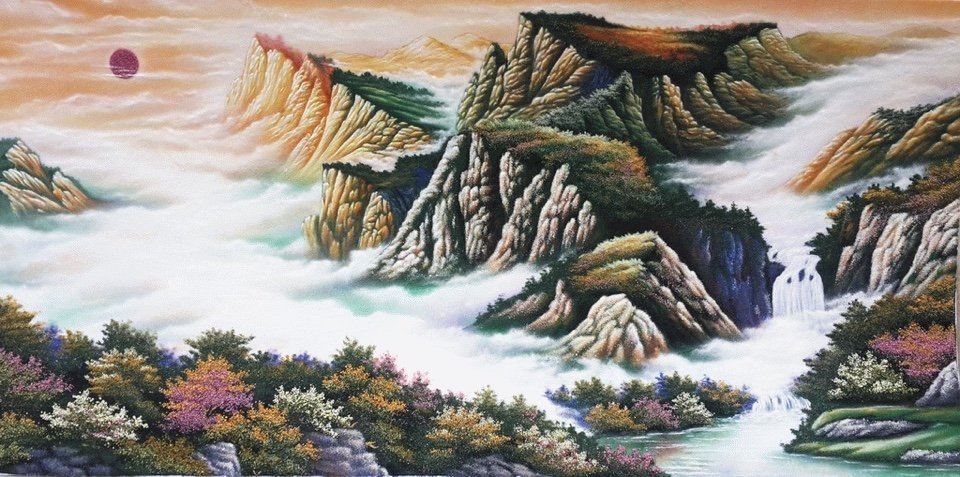 Gemstone painting - Vietnamese landscape 13