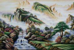 Gemstone painting - Vietnamese landscape 9